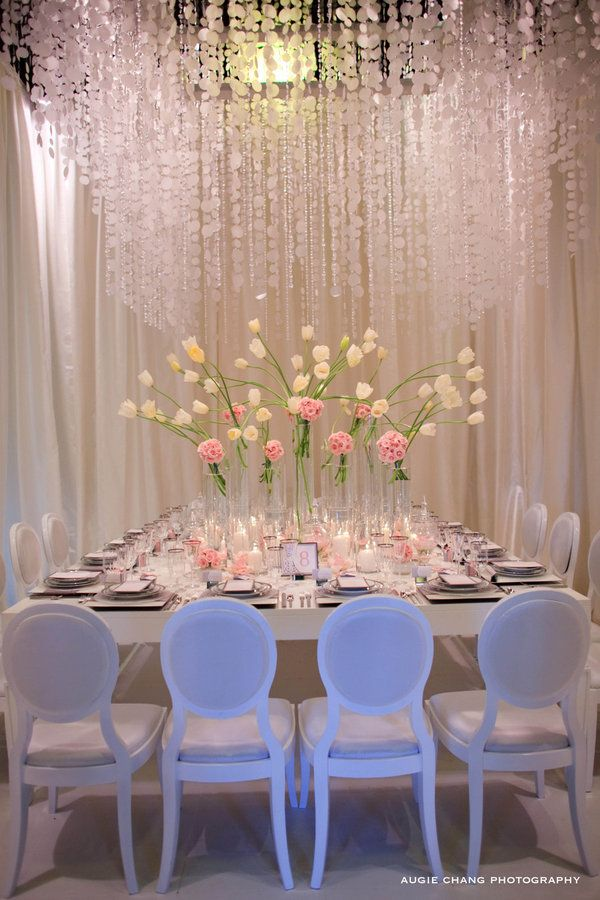 so pretty :)  (from style me pretty): Decor, Idea, Wedding Receptions, Tables Sets, Events, Dinners Parties, Parties Tables, Flowers, Rehear Dinners