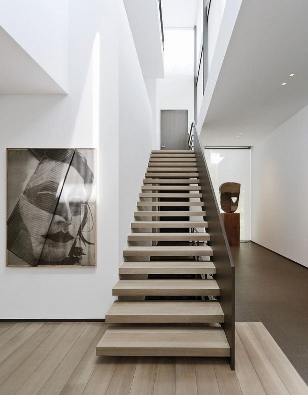 Staircase gallery + skylight. House in Belgium by Marc Corbiau.