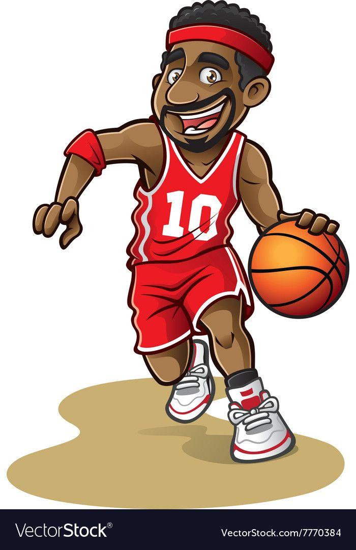 Cartoon Basketball Player Vector Image On Vectorstock Basketball Players Basketball Player Costume Basketball Players Girlfriend