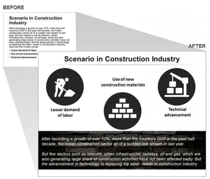 Construction Industry Presentation Slide