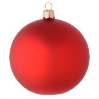 Palla vetro rosso opaco 100 mm   vendita online su HOLYART