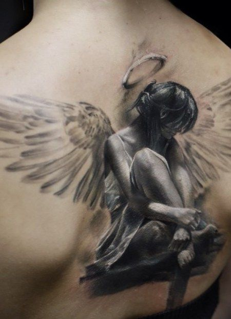 Angel Tattoo Design For Men                                                                                                                                                                                 More
