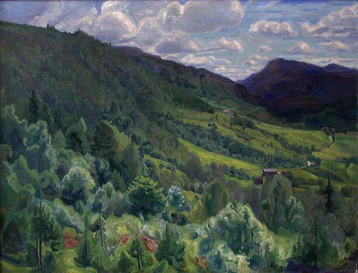 Fra Kviteseid i Telemark, Maleri - Erichsen Thorvald
