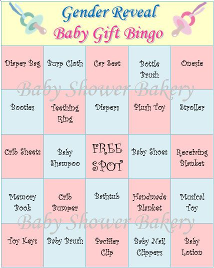 Gender Reveal Party Game, Gender Reveal Baby Shower Bingo, Baby Reveal  Shower Game, Printable Gender Reveal Bingo, Set Of 40 Baby Gift Bingo