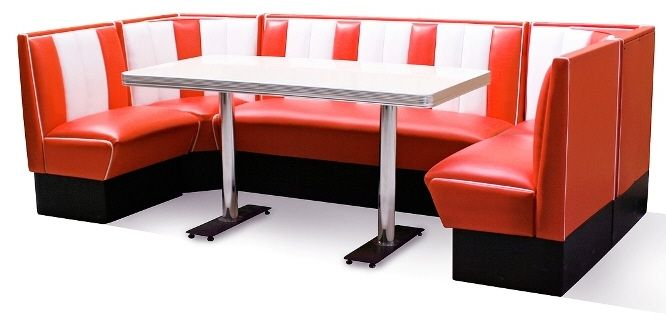 Retro booths diner booths bel air 50s american diner booths chairs 50 39 s pinterest vinyls - Kitchen booth sets ...