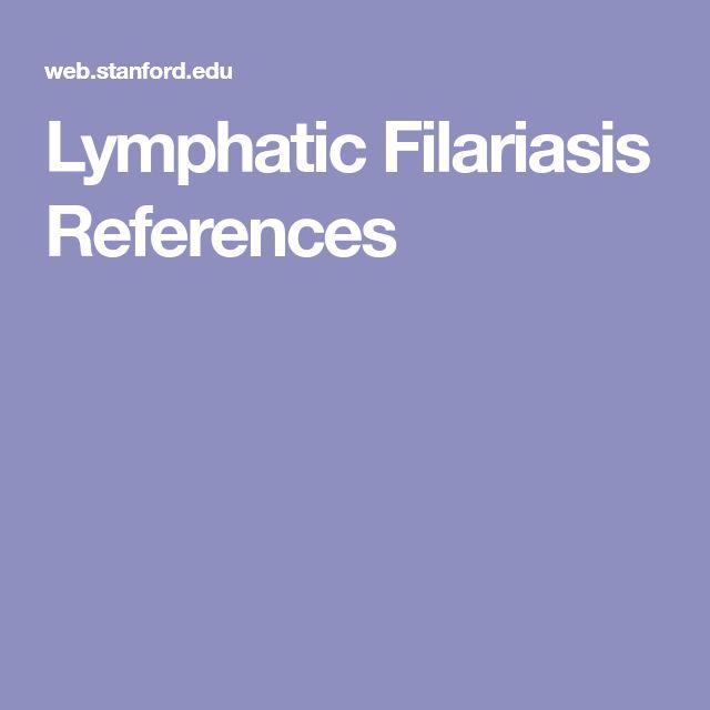 Lymphatic Filariasis References