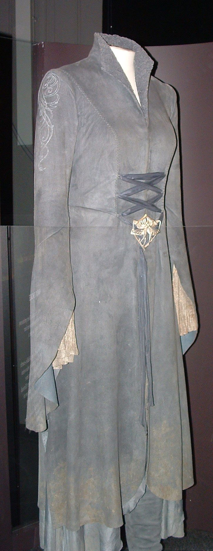 The riding dress Arwen wears while fleeing  with Frodo from the Nazgul in The Lord of the Rings: The Fellowship of the Ring.