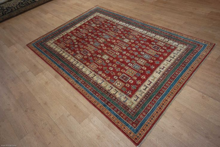 Hand Knotted Kashgari Rug from Afghanistan. Length: 233.0cm by Width: 168.0cm. Only £1556 at https://www.olneyrugs.co.uk/shop/rugs-for-sale/afghan-kashgari-22408.html    Take a look at our refined catalogue of Persian rugs, footstools and Kilim cushions at www.olneyrugs.co.uk