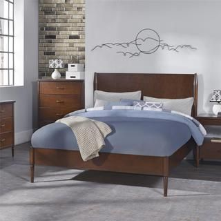 Dorel Living Brook Lane Walnut Queen Bed | Overstock.com Shopping - The Best…