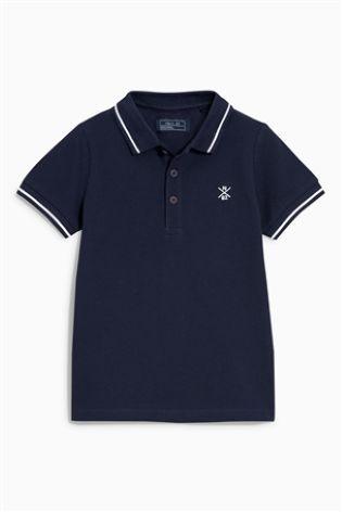 Navy Piqué Poloshirt (3-16yrs)