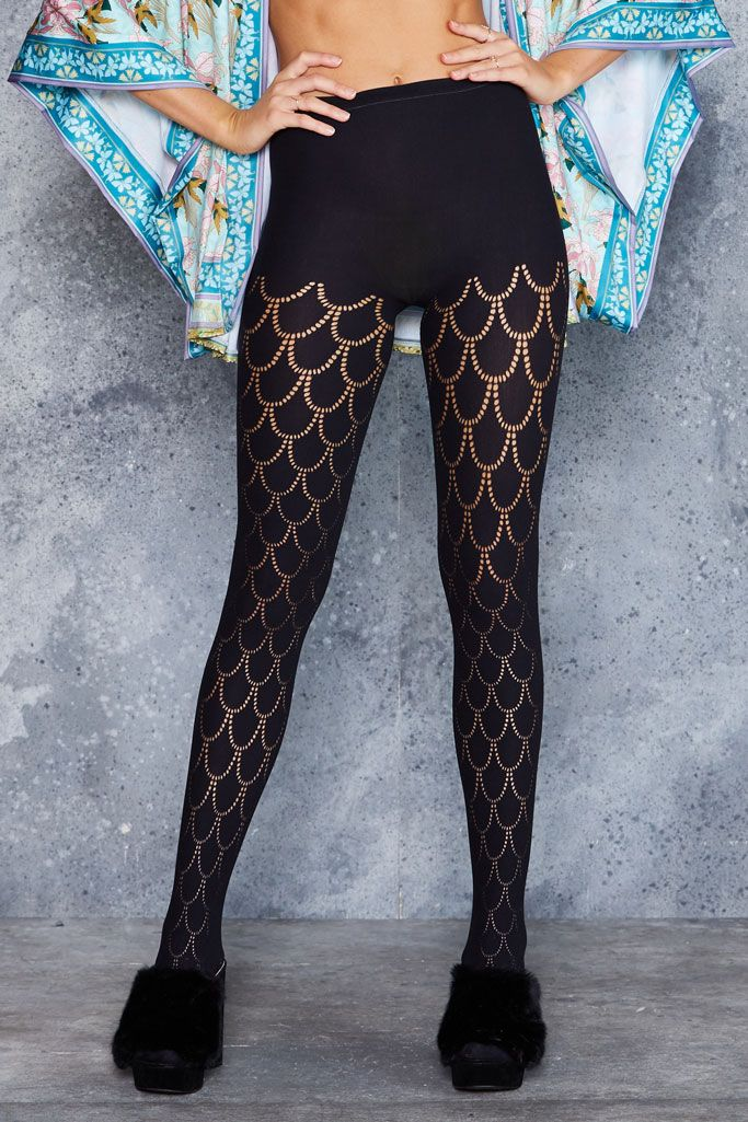Mermaid Hosiery - LIMITED ($40AUD) by BlackMilk Clothing