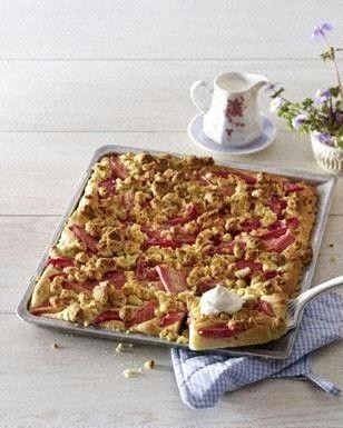 Brioche-Rhabarberkuchen Rezept