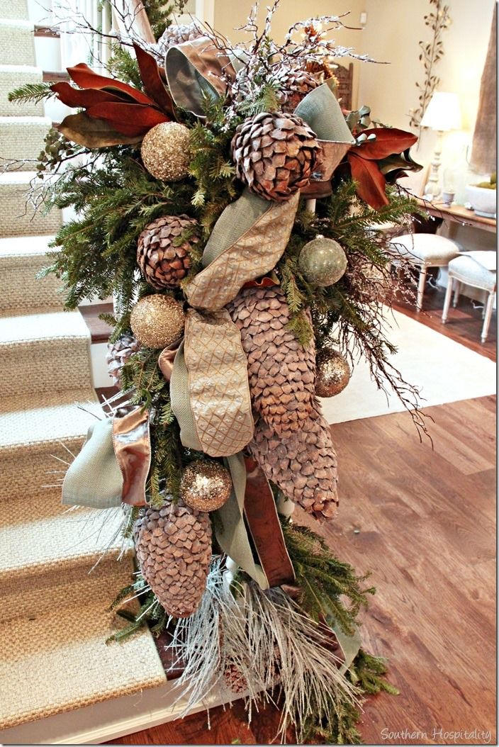 Gorgeous staircase garland