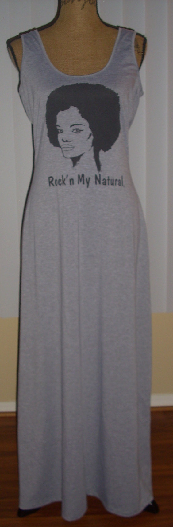 Black t shirt dress etsy - Natural Hair Maxi Dress By Rockthatnatural On Etsy 40 00 I Ned This Dress