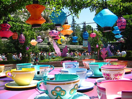 I love the lanterns!    Mad Tea Party by creampuffed, via Flickr