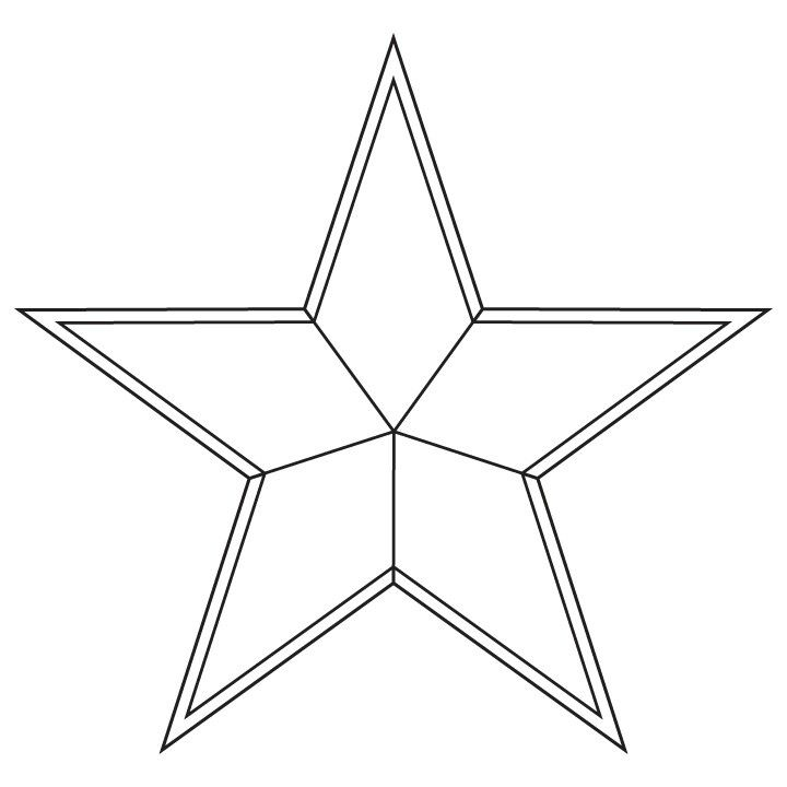 The star design for the centre of my captain america