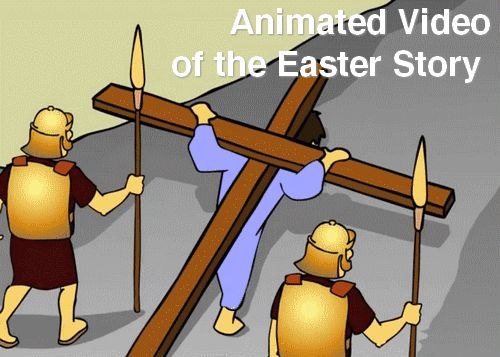 Four short animated video clips telling the Easter Story (Kid-Friendly). Intro, Nailing to the Cross, His Death, Jesus is Alive