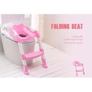 Baby Toilet Trainer Safety Seat with Adjustable Ladder