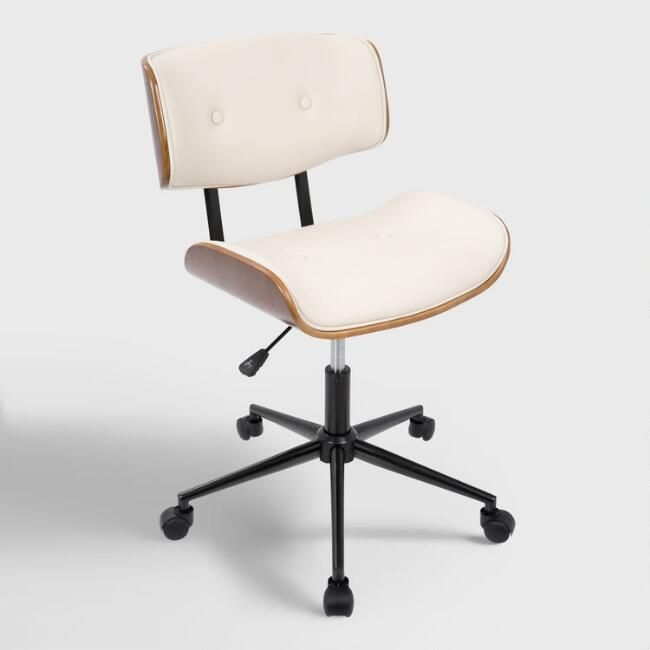 Decals For Baby Room, Cream Faux Leather Leander Swivel Office Chair World Market Officechair Modern Office Chair Mid Century Modern Office Chair Adjustable Office Chair