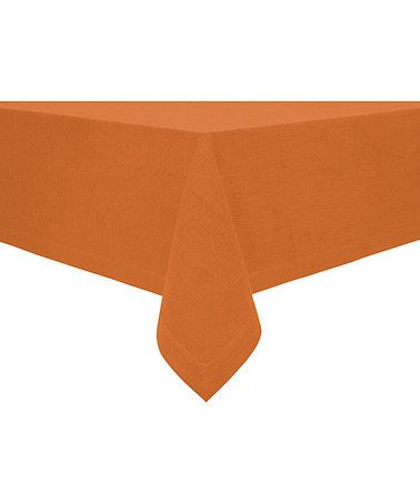 Take a look at this Rust Rustic Tablecloth by Fete on #zulily today!