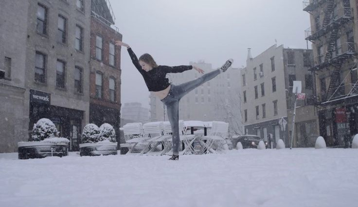 Snow Day: Ballerina Dancing in the Snow (video)