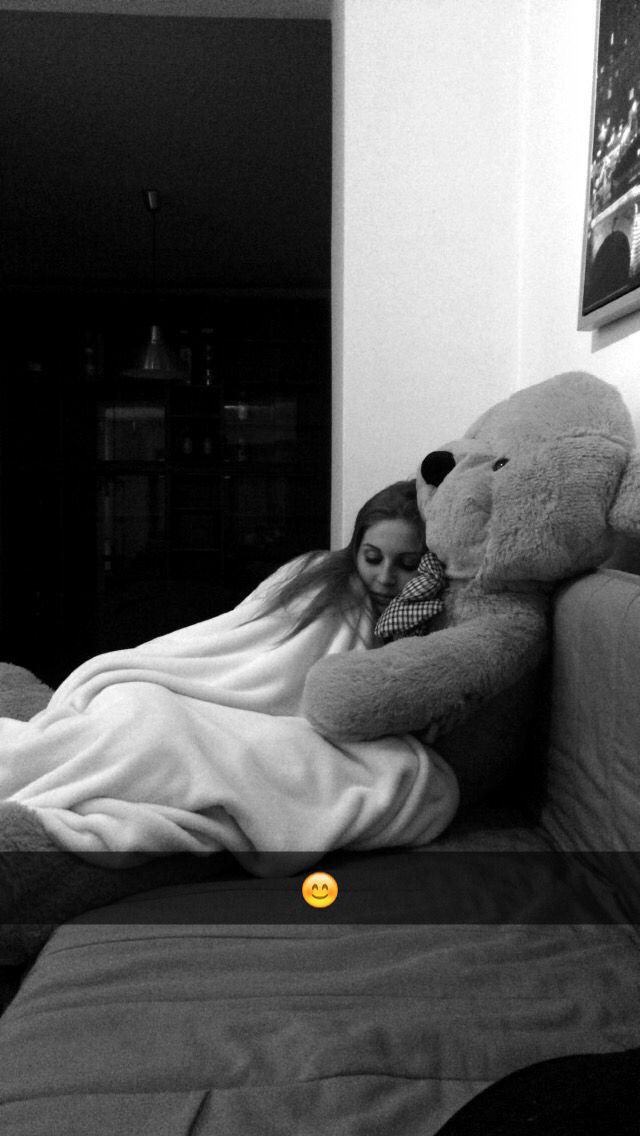 #Teddy #bear sleep girl big thank u #boyfriend #love , #sport ootd #fashion #photo #girl