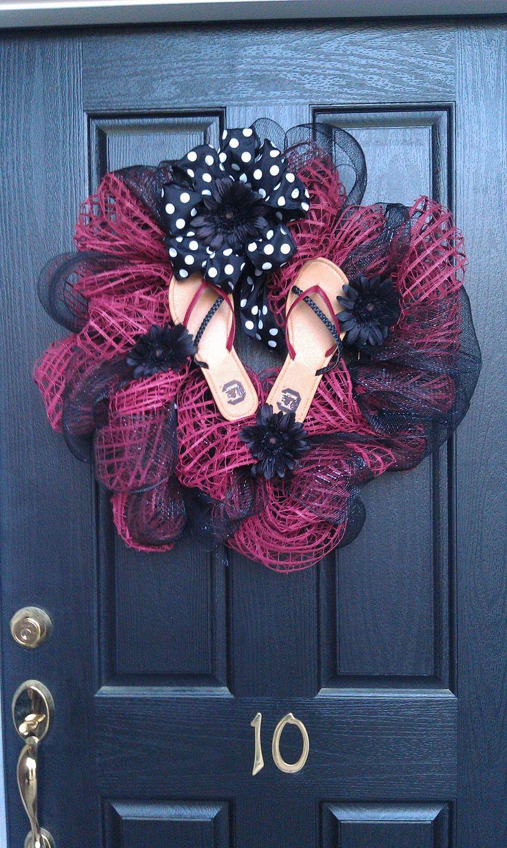 USC Gamecock flip flop wreath