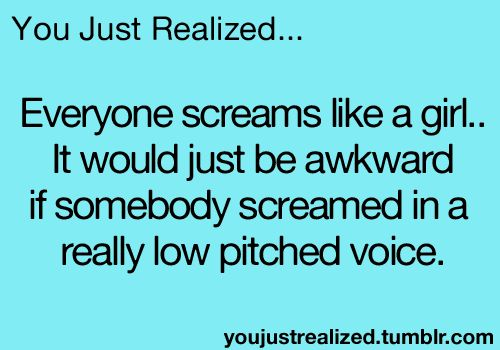 That awkward moment when you try to scream low pitched on roller coasters...