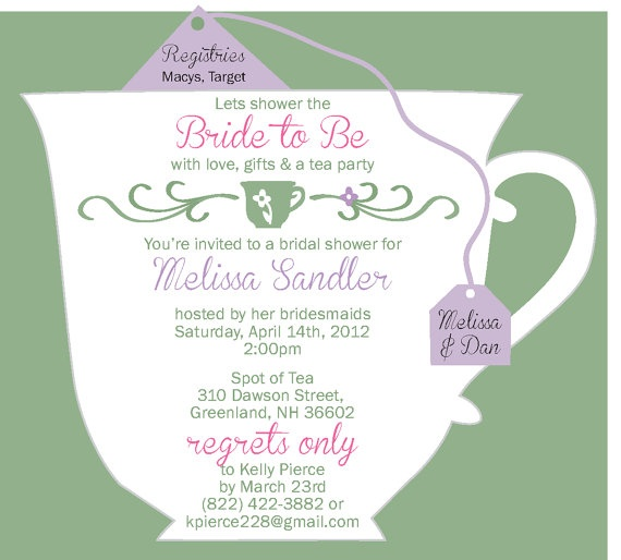 24 Best Images About Tea Party Invitations On Pinterest