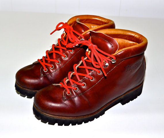 make an offer vasque vintage italian hiking and mountaineering boots brown leather made in italy. Black Bedroom Furniture Sets. Home Design Ideas
