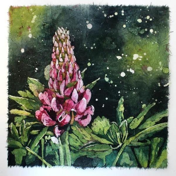 Rhonda Marineau Batik, Watercolour on Rice Paper canadian art halifax gallery nova scotia galleries nova scotia artists floral art art gallery halifax art rent