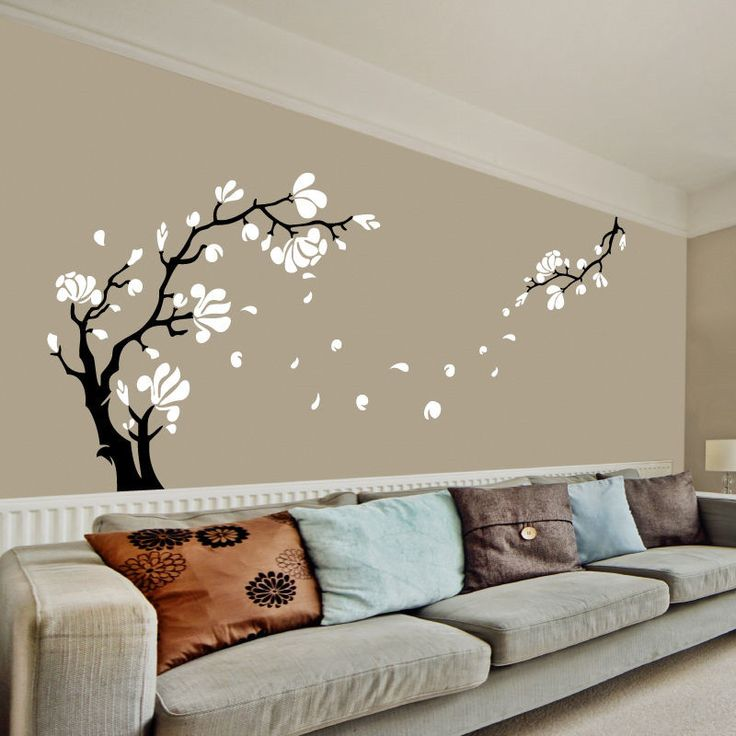 J2 Magnolia Flower U0026 Tree Wall Art Stickers / Wall Decals Removable, Easy  To Apply Part 53