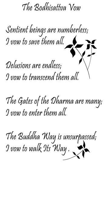 Bodhisattva Vow, from Daily Zen Yes, I do