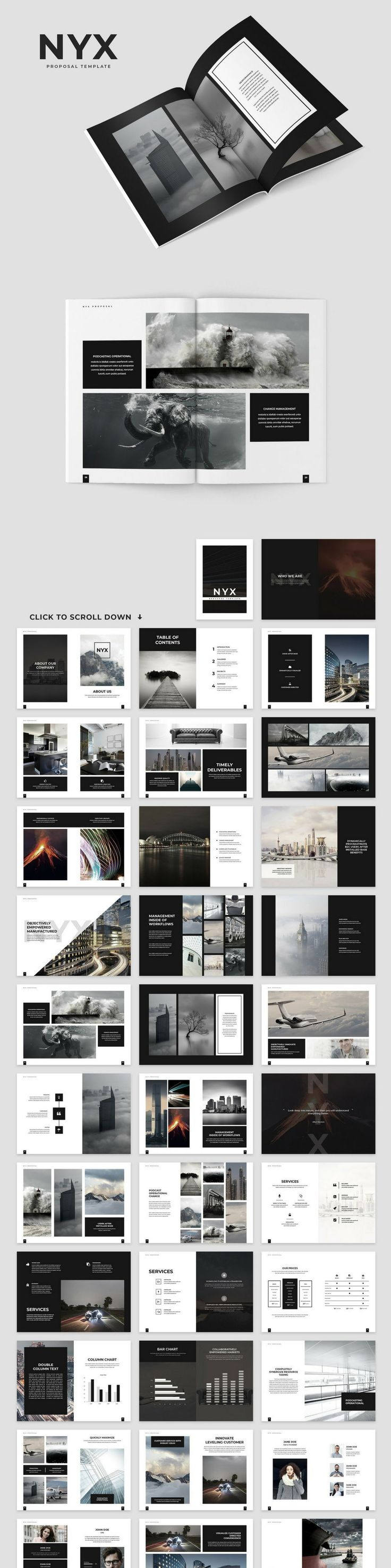 Nyx Proposal Template 120 best Portfolio images