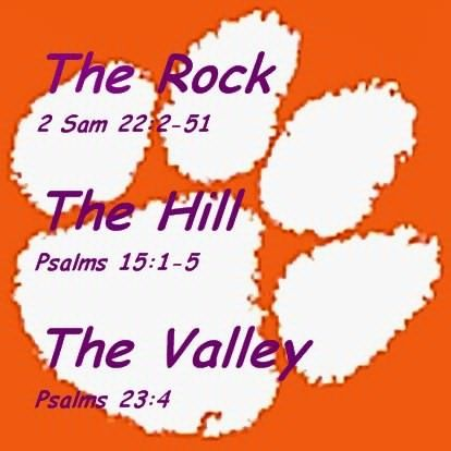 Love this ! These scripturea are the basis of the Clemson gameday traditions !