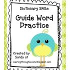 Need to help your students practice dictionary skills?! This unit includes three sets of word cards. Each set has four pairs of guide words and six...