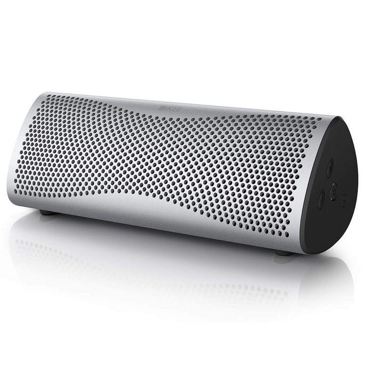 KEF MUO WIRELESS SPEAKER - LIGHT SILVER http://soundzdirect.com/kef-muo-bluetooth-speaker/