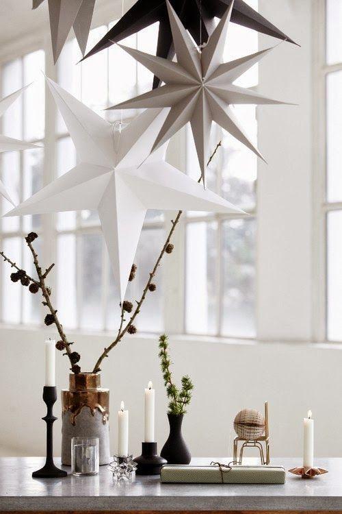 Klassisch schön: Weihnachtssterne in Weiß und Grau-Tönen- >> Pretty Christmas inspiration in white, pastel and gold - my scandinavian home