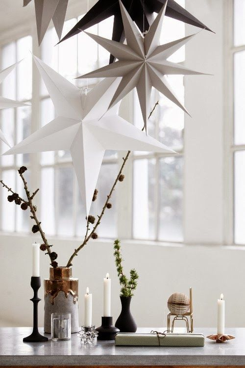 Pretty Christmas inspiration in white, pastel and gold - my scandinavian home:
