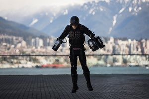 Vancouver, Canada British inventor Richard Browning demonstrates his flying suit at the TED conference