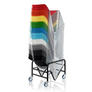 The Starr Chair With A Plastic Seat And Back Is Stackable Up To Forty Five  Chairs High On A Trolley And Available In A Choice Of 10 Striking Colours.