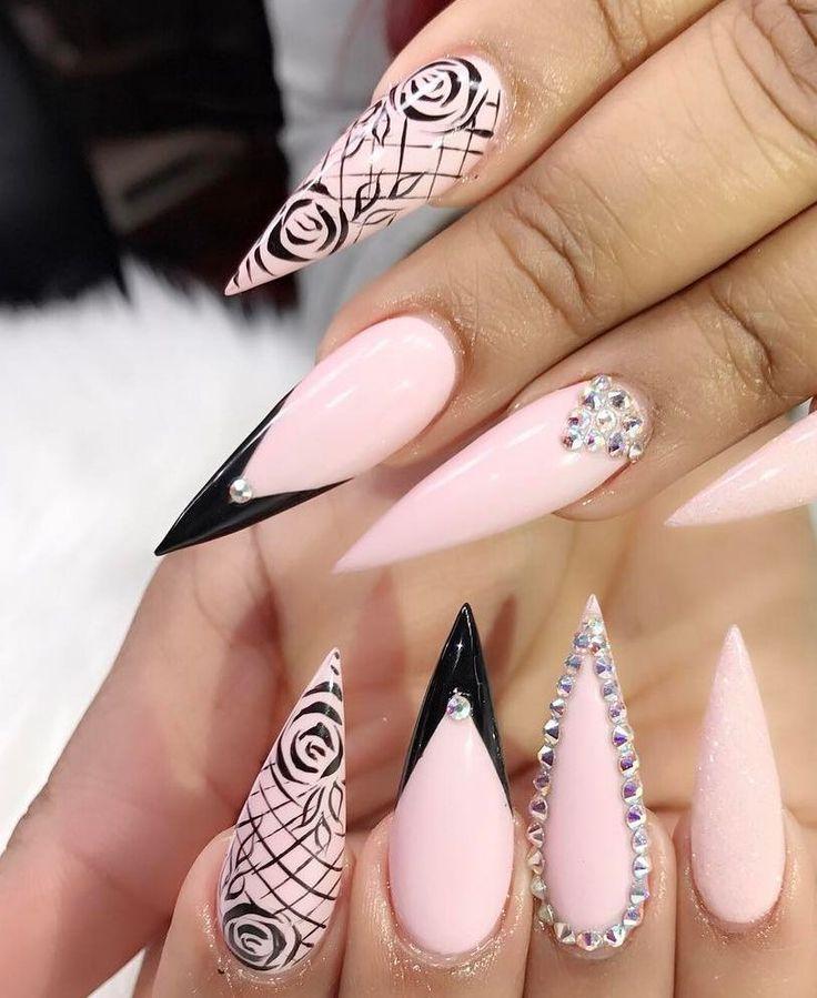 100+ Nails Art Ideas // Acrylic Nails // Fashion And Beauty Ideas
