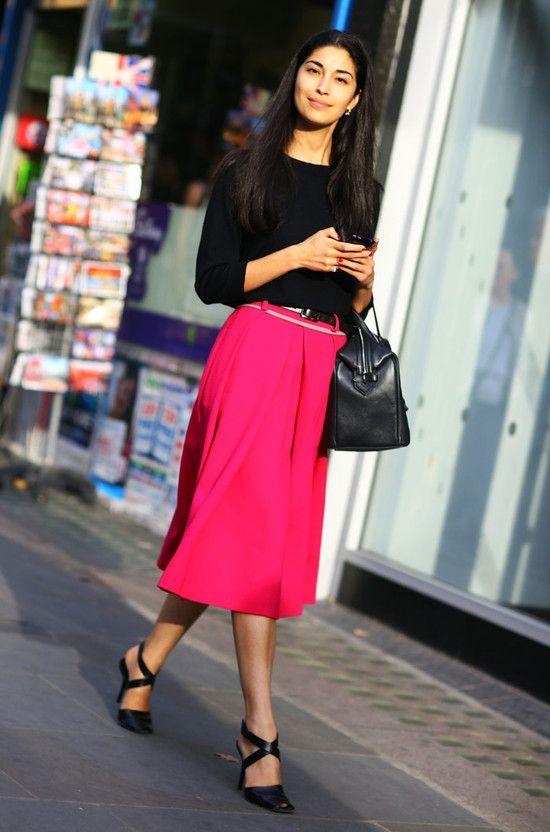 Pink Skirt, Caroline Issa | Street Fashion | Street Peeper | Global Street Fashion and Street Style