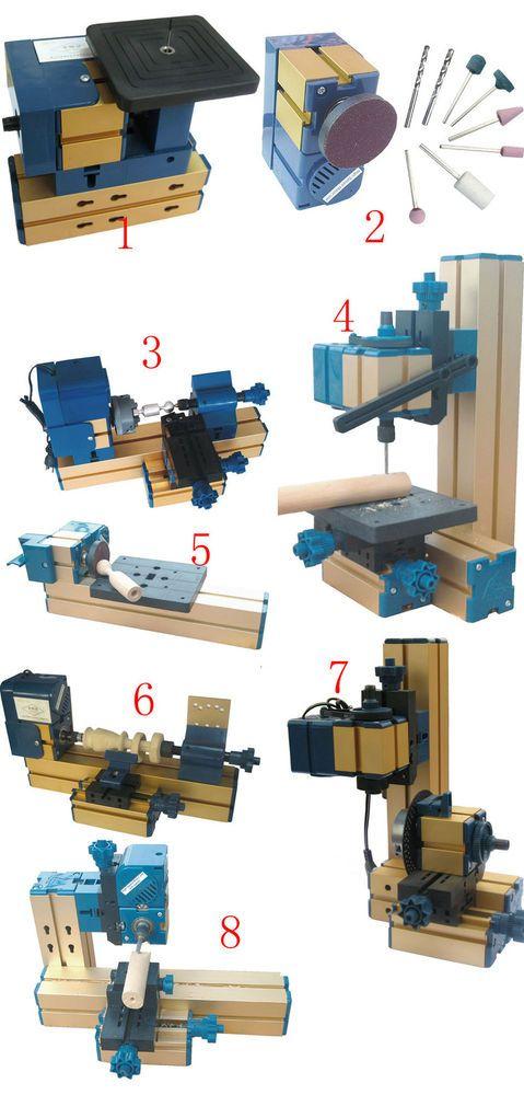 Mini Multipurpose Machine 8 In 3 Wood Metal Lathe Driller Milling Woodturning #UnbrandedGeneric