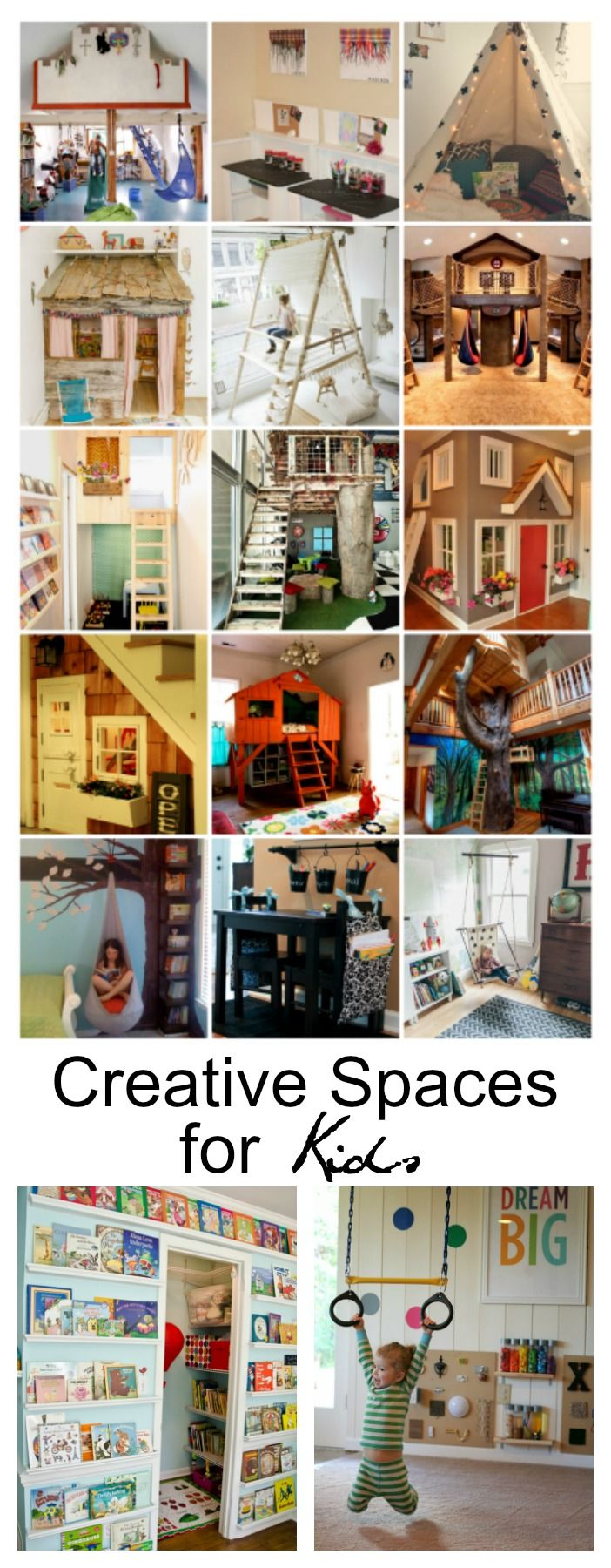 What's your idea of an awesome Creative Space for your kids? Sharing some amazing and imaginative Creative Spaces for Kids below that will leave you wishing you could go back to the simple days of playing and dreaming....now wouldn't that be nice?!