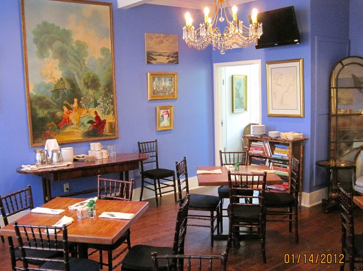 The Blue Room Upstairs In Carriage House Seats Up To 22