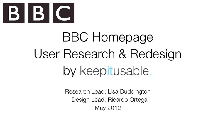 bbc-home-page-user-research-by-keepitusable by keepit usable via Slideshare