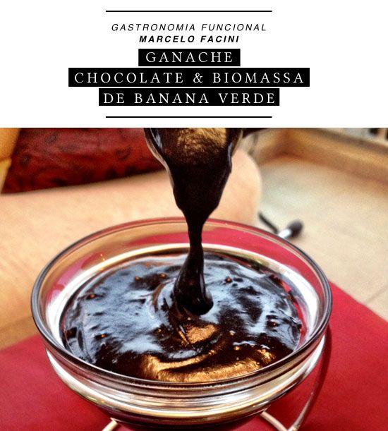GANACHE FUNCIONAL DE CHOCOLATE E BIOMASSA DE BANANA VERDE