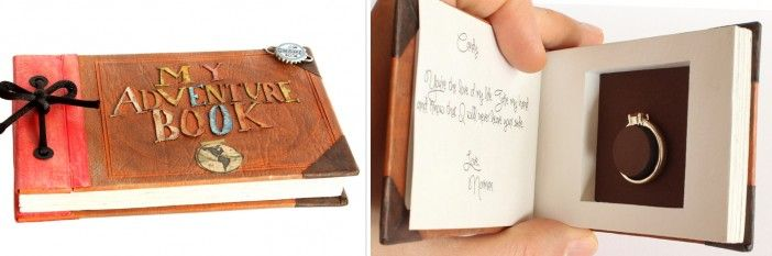 Up Adventure Book Engagement Ring Box