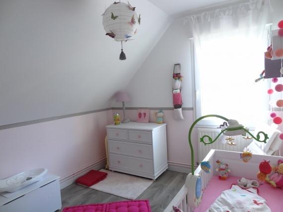Chambre après peinture, aménagement et déco
